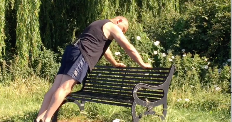 7 Exercises on a park bench for beginners